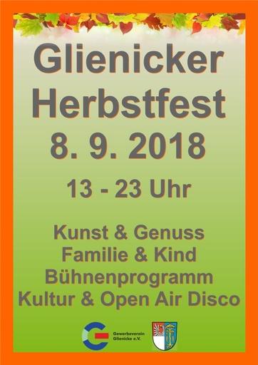 Glienicker Herbstfest 2018 (Plakat A3)